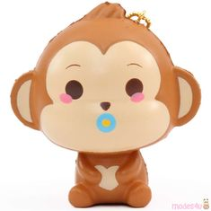 scented mini cheeki baby monkey pacifier animal squishy by Puni Maru Kawaii Shop, Plastic Molds, Cry Baby, Cute Designs, Mini, Monkey, Hello Kitty, Im Not Perfect, Bubbles