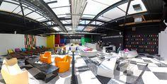The Duke Terrace, Leamington Spa pub's punk attitude brings the roof down. Bar Design Awards, Cafe Design, Cafe Restaurant, Commercial Interiors, Duke, Terrace, Restaurants, Dining, Table