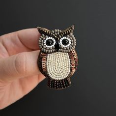 Owl brooch Owl jewelry Bird Brooch Wise owl Animal pin Owl gifts for women Bead Embroidery Jewelry, Beaded Embroidery, Beaded Jewelry, Zipper Jewelry, Brooches Handmade, Handmade Jewelry, Beaded Brooch, Brooch Pin, Bird Jewelry