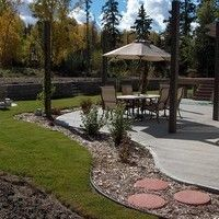 Landscape Design for Acreages - gallery of landscaping design ideas for acreages or large properties Acreage Landscaping, Landscaping Design, Garden Yard Ideas, Sidewalk, Design Ideas, Patio, Landscape, Gallery, Outdoor Decor