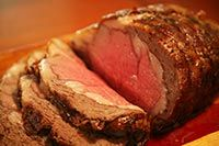 Prime rib recipe, how to cook to perfection a standing rib beef roast, step-by-step instructions and photos. Perfect for Christmas and the holiday season. ~ SimplyRecipes.com