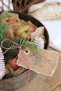 tag, string, apples & pine: idémakeriet: Snabba stilleben