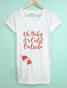 5ca5108c2 Items similar to Baby it's Cold Outside Christmas Maternity Shirt, Maternity  Christmas Holiday TShirt, Pregnancy Christmas Shirt, Christmas Bump Shirt  on ...