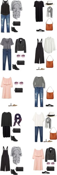 What to Wear in Italy and France Outfit Options 1-10 #travellight #packinglight…