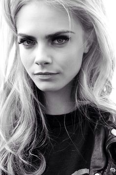 Cara Delevingne black and white modeling queen. Shes had 4 vogue covers by the time she is 21. Did your idol do that?