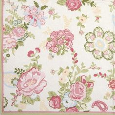 Paper Napkin - Wallpaper with Roses white Paper Napkins For Decoupage, White Napkins, Pink Brand, Ornaments, Cool Stuff, Wallpaper, Roses, Diy, Shop