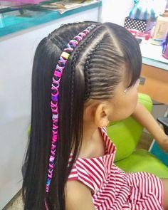 Hermosa #trenza con Hilo Chino dijes y abrazaderas #peinado #peinados #peinadoscolorin #trança #tranca #tranças #braid #braids #trenzas #hair #hairstyle