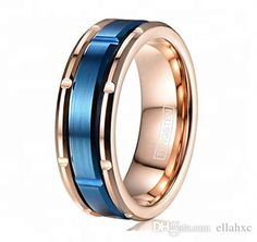 Epinki Womens Rose Gold Plated Wedding Bands Hollow Fire Lines Pattern Size 8 Gold Ring-Free Engraving