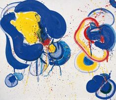 Dream It Is, 1963 by Sam Francis. Abstract Expressionism, Lyrical Abstraction. abstract