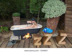 fire heated bath - Google Search