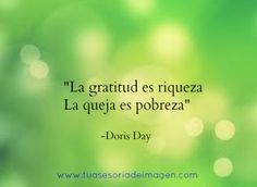 La gratitud es riqueza.