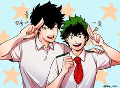 Boku no Hero Academia || You Shindou, Midoriya Izuku.