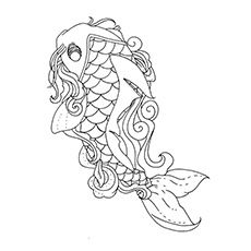 Top 25 Free Printable Koi Fish Coloring Pages Online Koi Fish