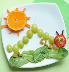 inch worm snack plate
