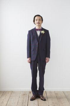 ゆるめの冬仕様のタキシード。たまりません。 http://knock-out-wedding.com/blog/