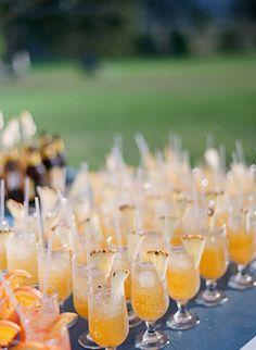 orange cocktails - Read more on One Fab Day: http://onefabday.com/jodi-mc-donald-australian-ranch-wedding/