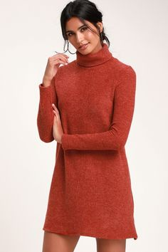 a971f687079 Christmas Belted Pattern Turtleneck Sweater Dress - RED ONE SIZE ...