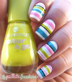 stripes nail design