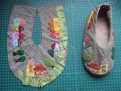 zapatillas de patchwork - Buscar con Google