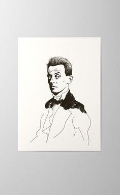 Egon Schiele offset and screen printed greeting card artist portrait Print Finishes, Letterpress, Screen Printing, Greeting Cards, Stamp, Portrait, Printed, Artist, Cotton