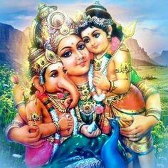 Shri Ganesh Images, Shiva Parvati Images, Ganesha Pictures, Ganesha Art, Krishna Art, Jai Ganesh, Shree Ganesh, Lord Ganesha, Indian Goddess Kali
