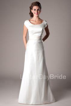 Modest Wedding Dresses :  Mormon LDS Temple Marriage - Bennett  #LDSTemples #MormonTemples #Gospel