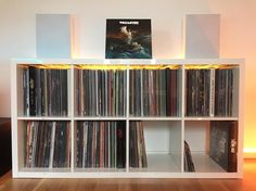 Audiophile Turntable, Vinyl Collectors, Vinyl Record Storage, Audio Room, Record Collection, Sweden, Improve Yourself, Sweet Home, Basement Ideas