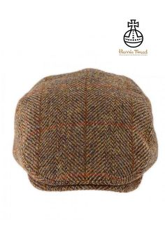 5460507eb43 Cherry Tree Country Clothing - Harris Tweed Flat Cap - Gold