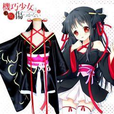 Anime Yaya COS Unbreakable Machine-doll Kimono Cosplay Costume Short skirt set