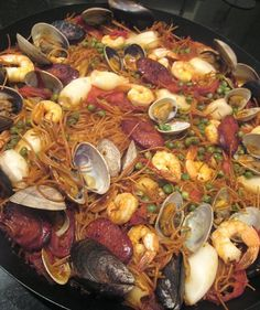 "... vancouver: Fideuá (Spanish Seafood Noodle ""Paella"")... and Paella"