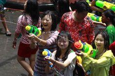 Songkran: Thai New Year (traditional) =========================== April 13-15, 2013 [2556] =========================== ===Khao San Road, Bangkok=== Thai name: Grung Thep or City of Angels