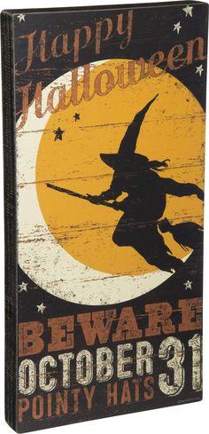 Box Sign: Beware October 31