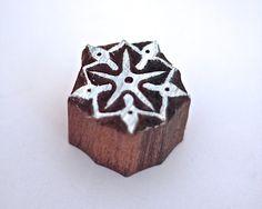 Hand Carved Indian Rangoli Motif Wooden Printing Block by ElePun