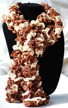 Brown Cream & Mocha Ruffled Scarf  Super Soft Cozy by Designer Doreen Koch Allen of AquaLumen. Ruffle Scarf featured in the following Etsy Treasury: https://www.etsy.com/treasury/MjU5MDYwMTR8MjcyNTMxOTkxNQ/puyallup-fall