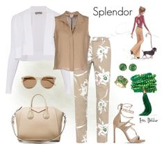 """""""Splendor"""" by debbie-michailides ❤ liked on Polyvore featuring Valentino, Stuart Weitzman, Givenchy, Rosantica, Effy Jewelry, Sportmax, Armani Collezioni and Yves Saint Laurent"""