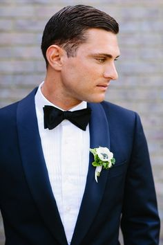 This navy, white and gold themed California wedding is chic and elegant in every way! Florals from Sweet Marie Designs enhance the prettiness. Take a look! Wedding Trends, Wedding Styles, Wedding Photos, Groom And Groomsmen Attire, Groom Outfit, Wedding Tux, Wedding Attire, Purple Wedding, Wedding Cakes