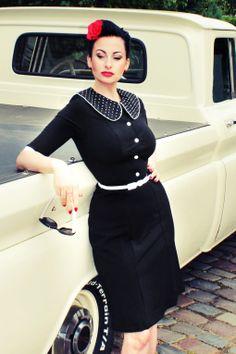 Steady Clothing - 40s Stella Wiggle dress black