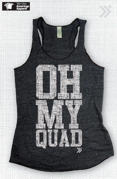 Eco Charcoal / White OH MY QUAD Tank