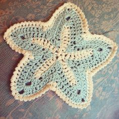 Crochet - starfish dishcloth. Maybe can make smaller as coasters?