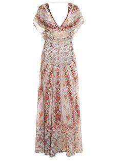 Floral-print silk-georgette gown | Etro | MATCHESFASHION.COM UK