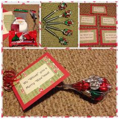 Small, cheap gifts for coworkers! Great idea for secret Santa exchanges! Small, cheap gifts for cowo Small Christmas Gifts, Inexpensive Christmas Gifts, Teacher Christmas Gifts, Homemade Christmas Gifts, Homemade Gifts, Holiday Gifts, Christmas Stuff, Teacher Gifts, Diy Gifts