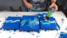 Abstract Canvas Art, Diy Canvas Art, Acrylic Pouring Art, Acrylic Art, Marble Art, Marble Painting, Diy Painting, Painting Hacks, Pour Painting Techniques