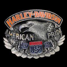 Harley Davidson Mens Legendary Eagle with Flaming Skull  Buckle