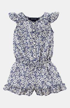 Ralph Lauren Ruffle Coveralls (Baby Girls)   Nordstrom