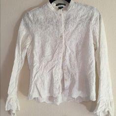 Ralph Lauren Tops - Ralph Lauren white delicately detailed button down