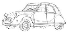 coloriages pour adultes voitures - Bing Images