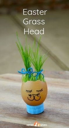 Egg Grass Heads: A craft your kids will GROW wild for Your kids will GROW wild with these egg grass heads. Make a bunny grass head or a chick grass head. Best of all your eggs aren't wasted in the process! Easter Art, Bunny Crafts, Easter Crafts For Kids, Easter Ideas, Easter Activities, Spring Activities, Diy Ostern, Nature Crafts, Animal Crafts