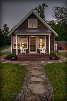 60 Beautiful Tiny House Plans Small Cottages Design Ideas - Home design ideas Small Cottage Designs, Small Cottage House Plans, Small Cottage Homes, Cottage Style Homes, Small House Design, Small House Plans, Home Design, Design Ideas, Tiny Homes