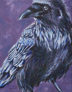 Raven Art Print by Laura Wolf