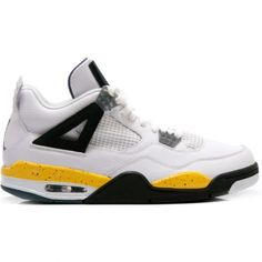 Air Jordan Retro 4 LS Tour Yellow Grey Black 314254-171 /nike shoes